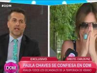 Paula Chaves cortó una nota en vivo por algo que vio detrás de cámara