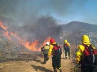 Un rayo causa un voraz incendio en el Valle de Lerma