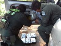 Un perro encontró seis kilos de cocaína en un auto