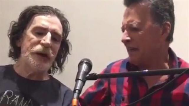 Reapareció Charly García cantando con Palito Ortega