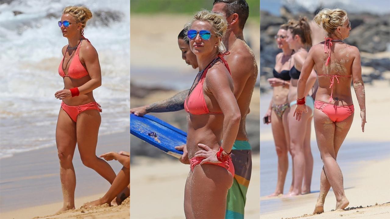 Britney Spears presume vacaciones en bikini