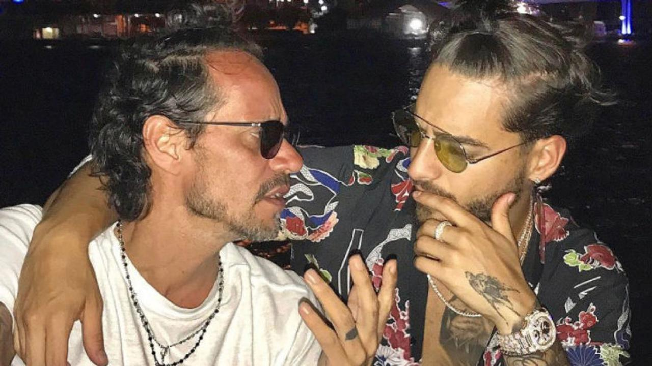 Marc Anthony besó a Maluma y generó un revuelo
