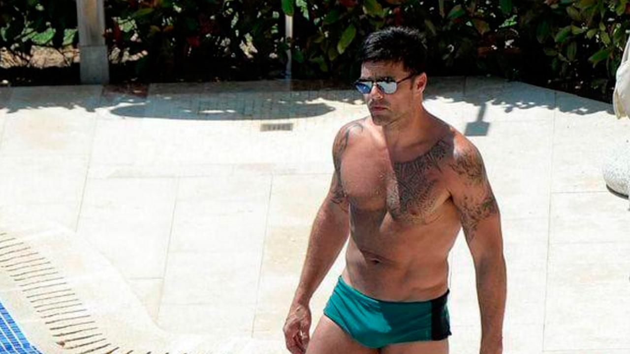 Ricky Martín hizo alarde de su sensual figura en Mallorca