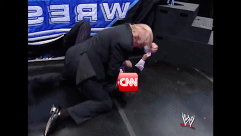 Trump comparte meme en el que propina golpiza a CNN