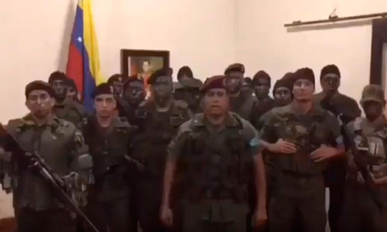Grupo armado se subleva en Venezuela