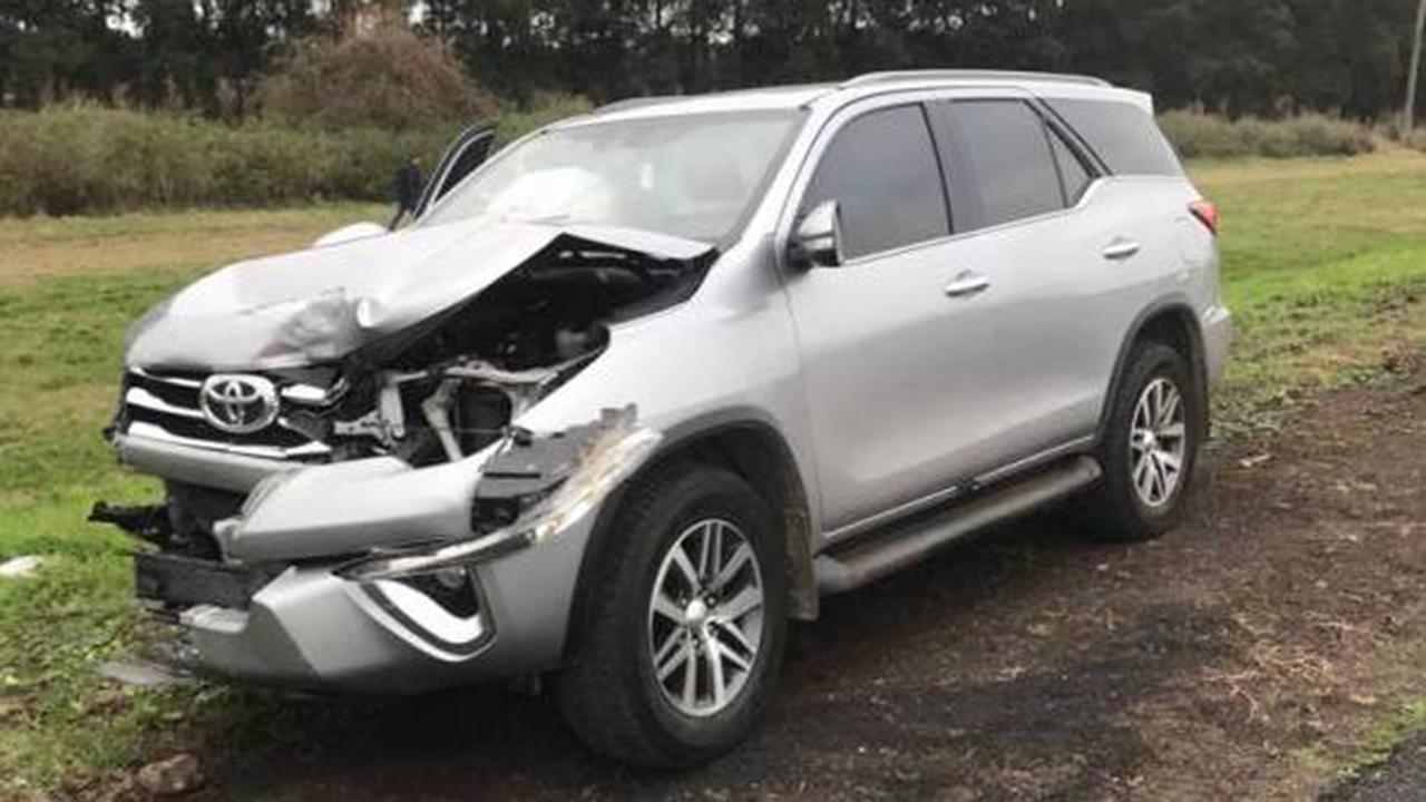 Brutal accidente de un custodio de Macri