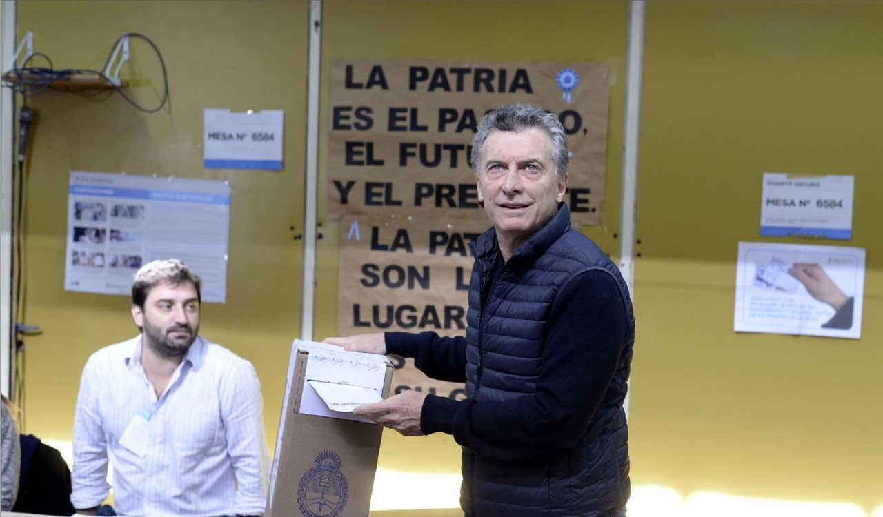Votó el presidente Mauricio Macri