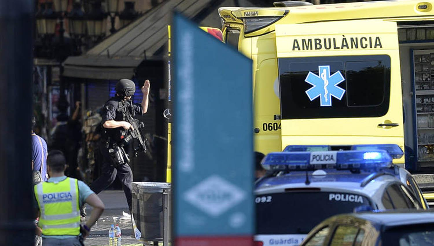 Primer video después del atropello masivo en Barcelona