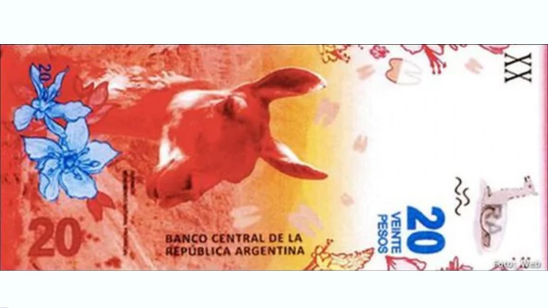 Comienza a circular el nuevo billete de 20 pesos