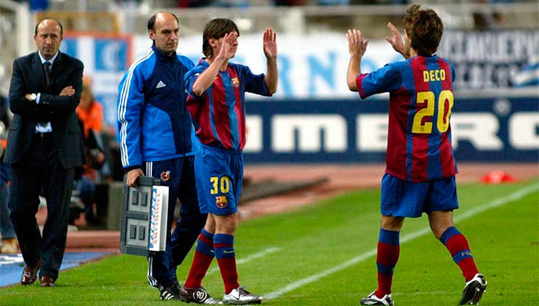13 años del debut de Lionel Messi con el Barcelona