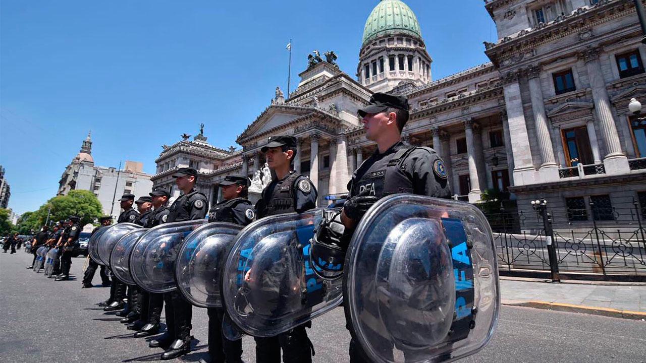 Mas de 1.000 policías custodiarán el Congreso