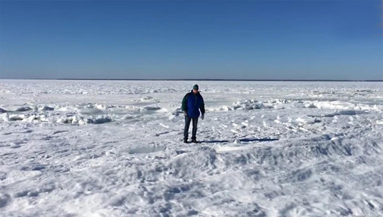 Frío provoca congelamiento del mar en Massachusetts