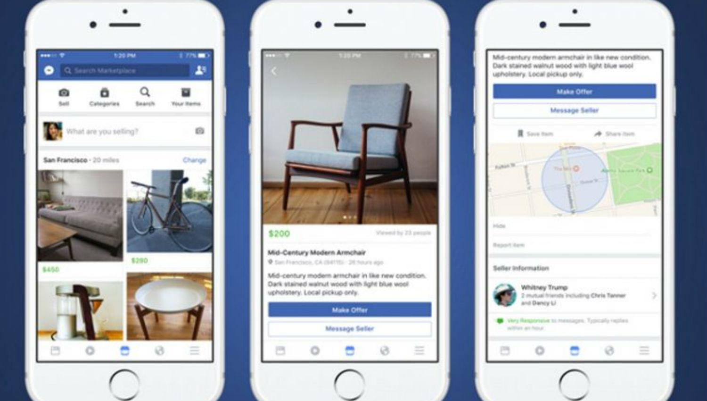 Facebook lanzó en Argentina su tienda virtual Marketplace