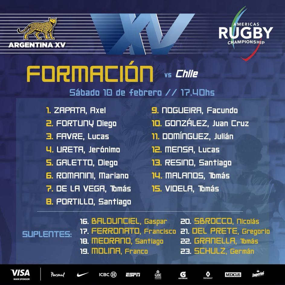 Lucas Favre irá de titular ante Chile — Amercias Rugby