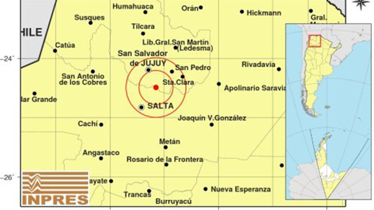 Un sismo de 4,5 grados hizo temblar a Salta y Jujuy