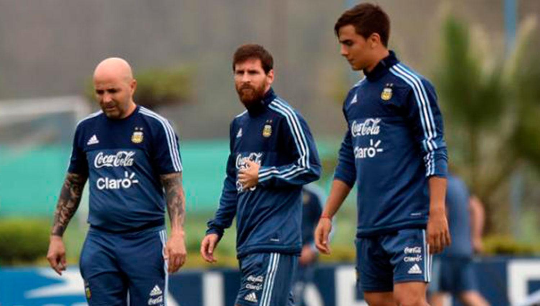 Sampaoli se reunió con Messi en España