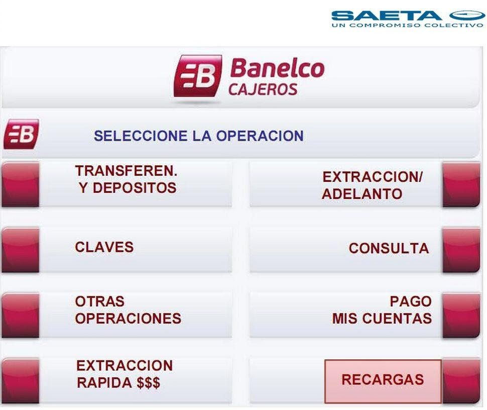 La tarjeta de saeta se podr recargar en cajeros for Banco galicia busca cajeros