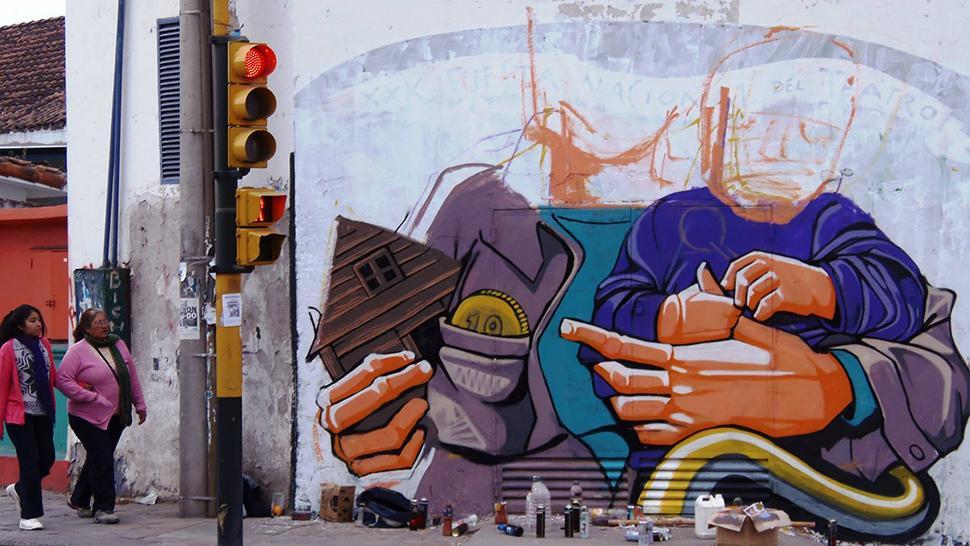 El arte urbano se instal en 15 nuevos murales para salta for Murales para fotografia