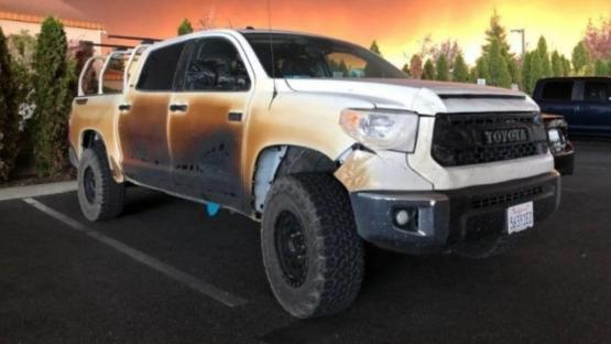 Un enfermero destrozó su camioneta en los incendios en California y le regalarán una nueva