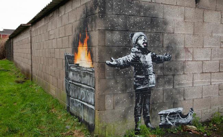 Venden mural de Banksy en Gales por 129 mil dólares