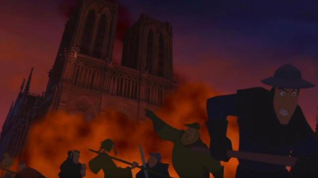 Resultado de imagen de el jorobado de notre dame en la catedral