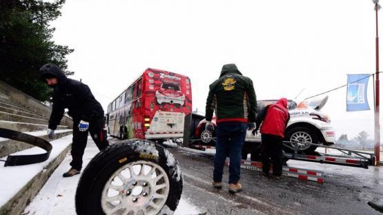 Campeonato Argentino de Rally: La nieve no dejó reconocer los caminos en Esquel