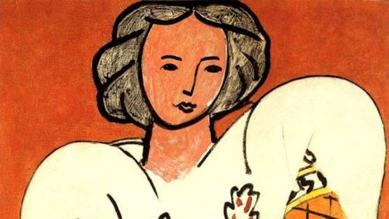 Dos pintores y una blusa bordada
