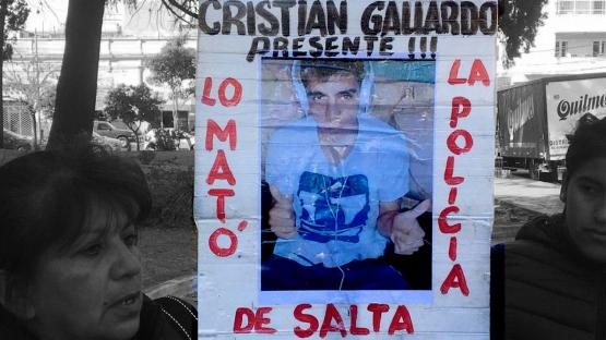 Caso Gallardo: policías a domicilio y una familia clama por justicia en las calles