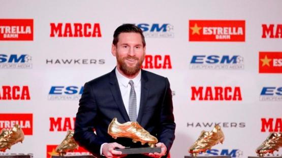 Messi recibirá su sexto Botín de Oro como máximo goleador en Europa