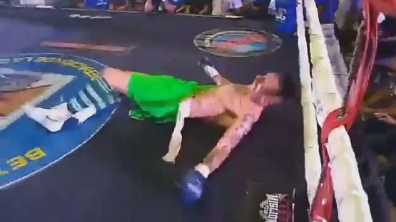 Video: mirá el KO que sufrió Migliore, el ex arquero de Boca