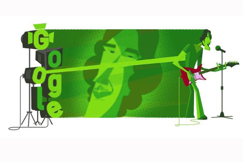 """El gran homenaje de Google, a 70 años del nacimiento de """"El Flaco"""" Spinetta"""