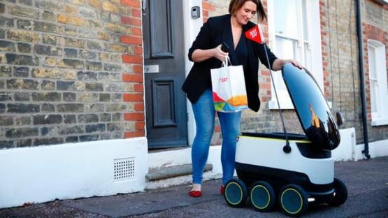 Los robots delivery se convirtieron en un éxito de la cuarentena