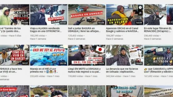 Un youtuber viajero quedó varado en Ushuaia por la pandemia